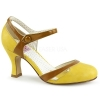 FLAPPER - 27 Yellow/Tan Faux Leather